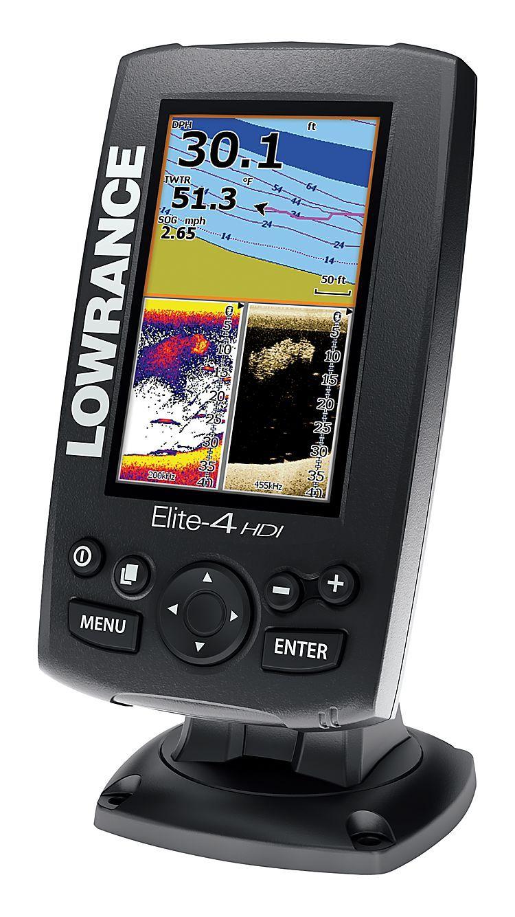 Lowrance® Elite4 HDI Fishfinder/Chartplotter Bass Pro