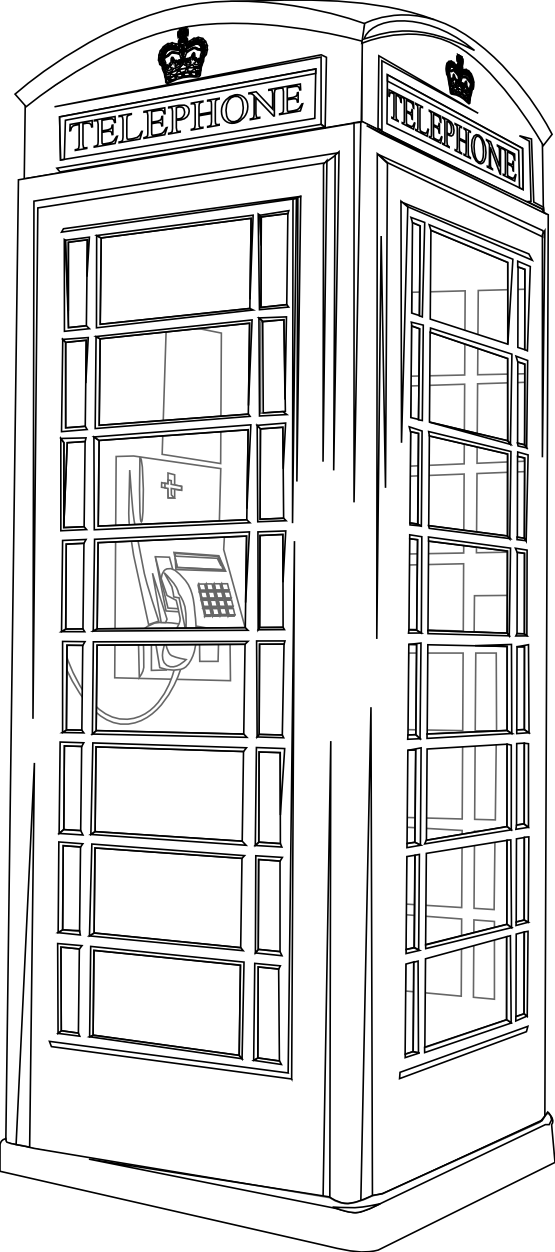 Telephone Box Line Drawing Me Telephone Drawing