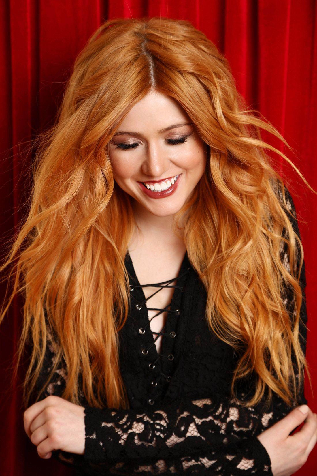 Check out redhead hottie Katherine McNamara playing on her ...