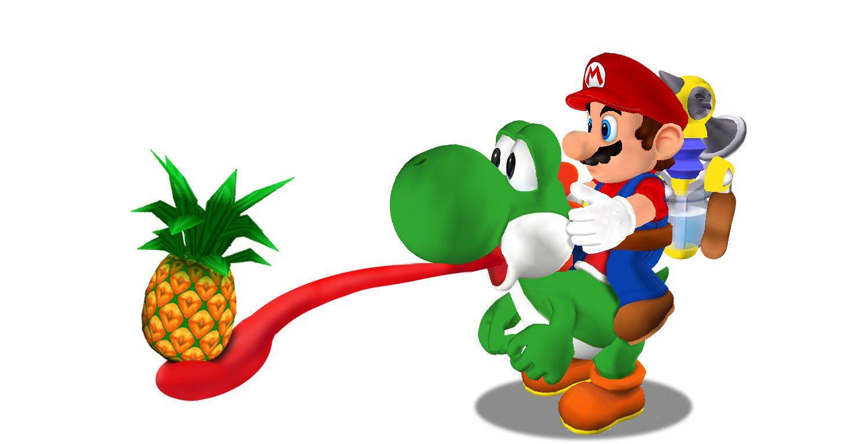 Super Mario Sunshine Photo Yoshi Super Mario Sunshine Mario Yoshi