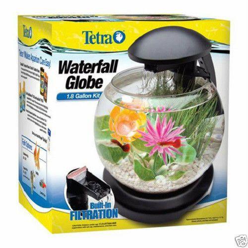 Tetra Waterfall Led Globe Aquarium Kit Desktop Just Add Water Fish Tm29008 Tetra Aquarium Kit Small Fish Tanks Desktop Aquarium