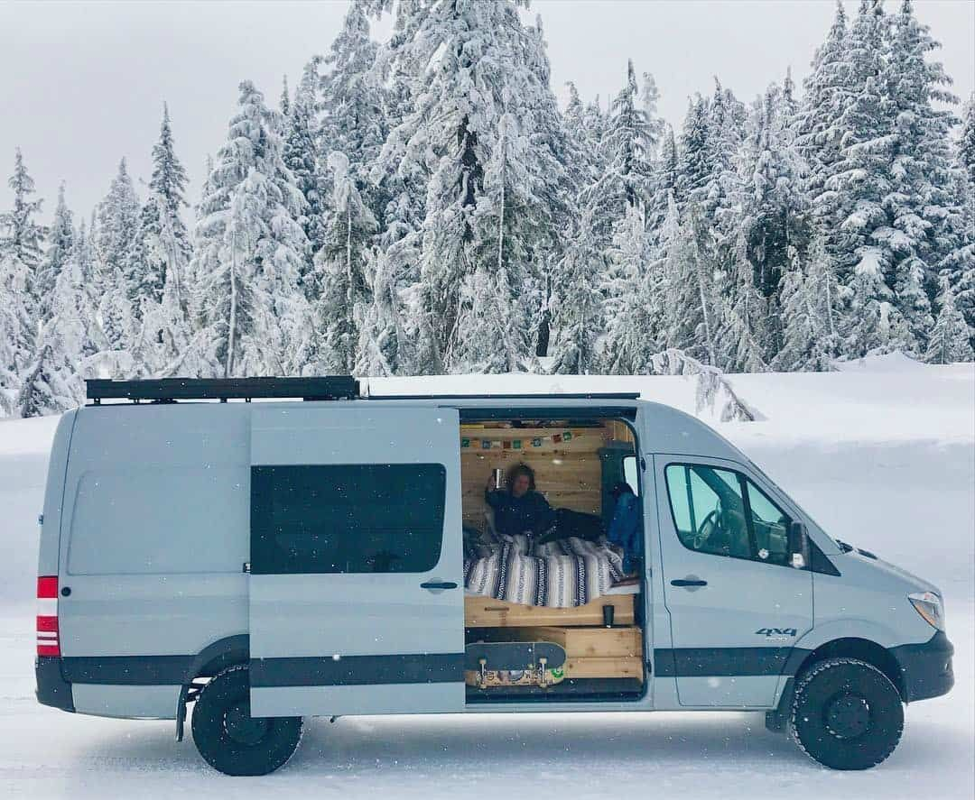 23942738d7 College students live in a Sprinter camper van to save money on rent in  Portland. This is a gorgeous custom Sprinter. Check out this camper van  interior.
