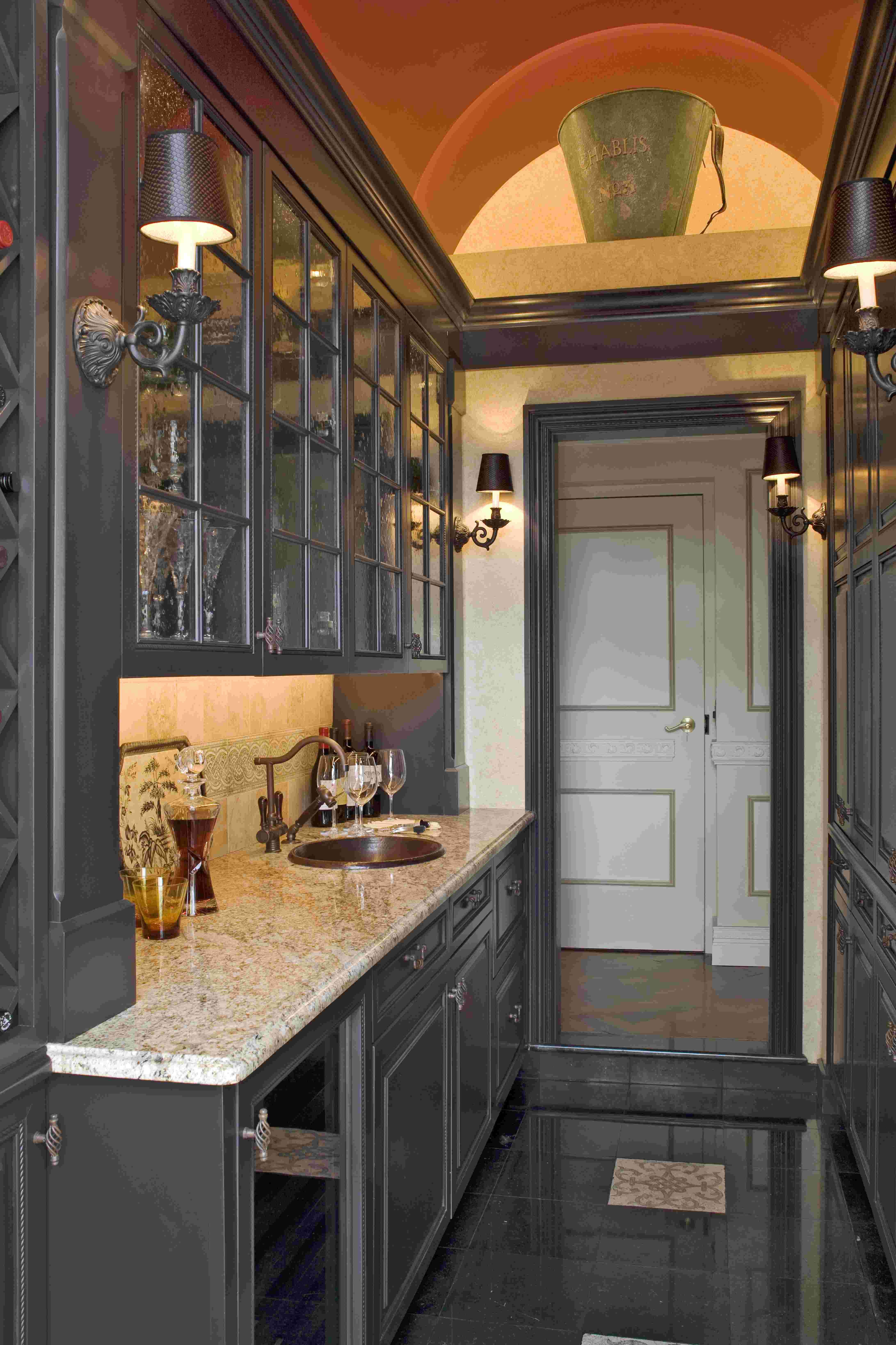 Bar Design In Living Room: Wet Bar Adjacent To Living Room Created From A Former Back