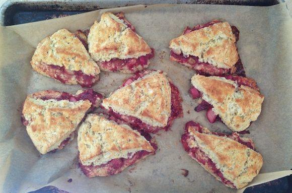 Buckwheat-Rhubarb Scones on Food52