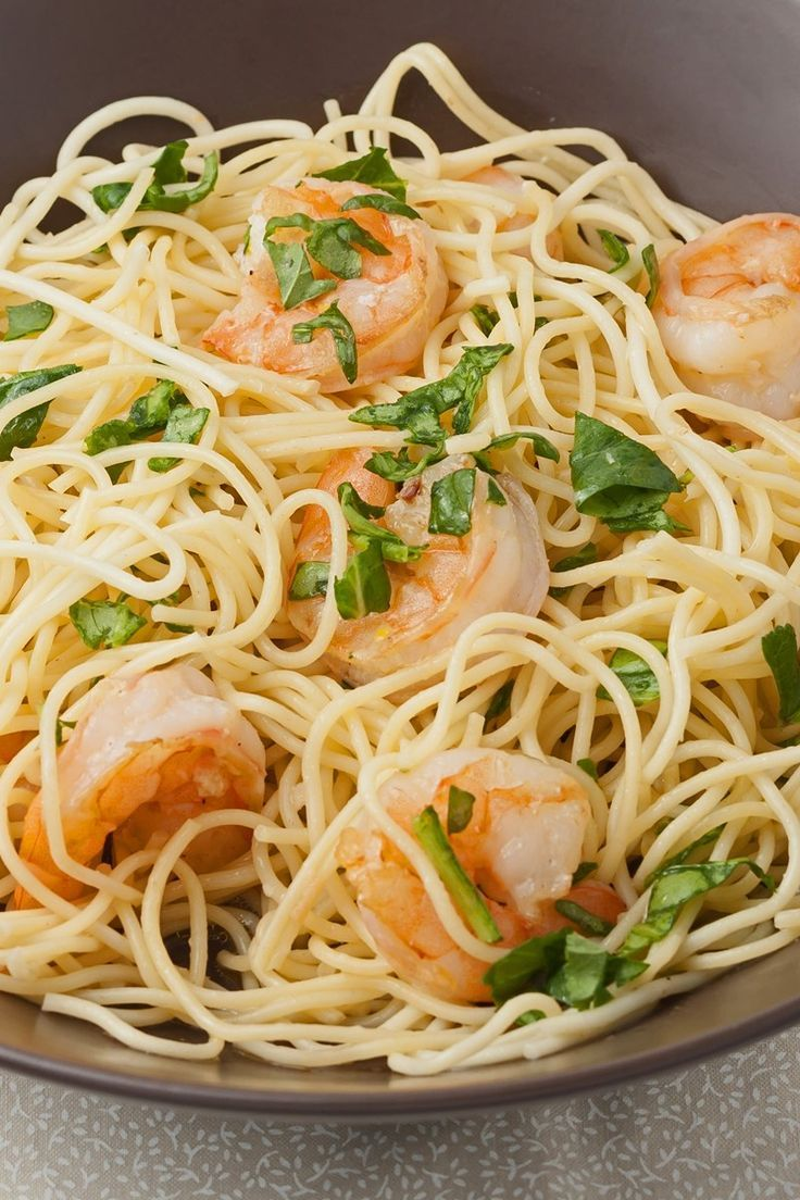 Lemon Pasta with Roasted Shrimp images