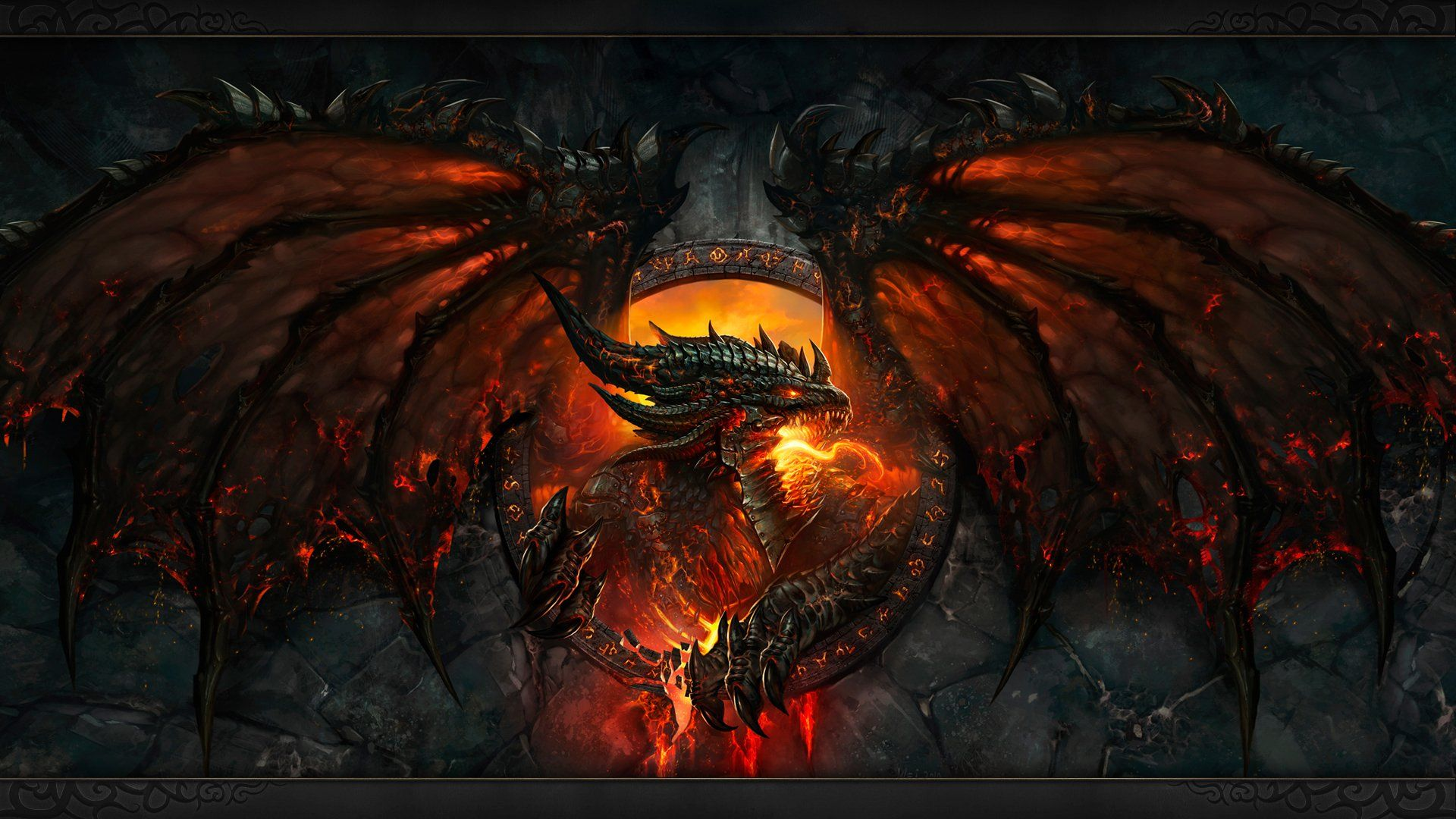 Deathwing High Definition Painting Fan Art