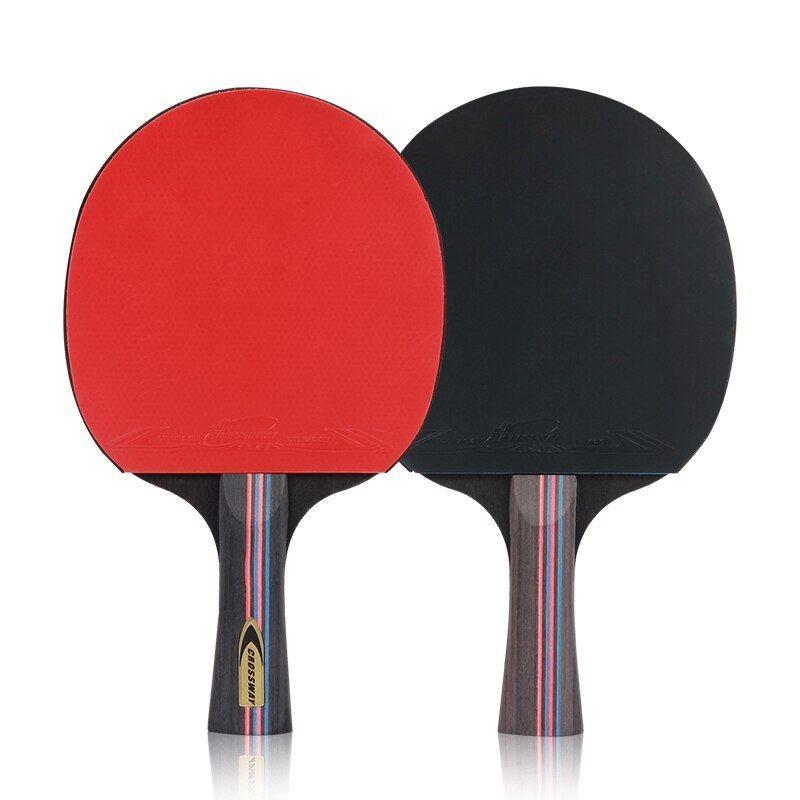 Table Tennis Racket 2pcs Lot Table Tennis Bat Racket Long Short Handle Ping Pong Paddle Racket Set With Bag Table Tennis Bats Table Tennis Table Tennis Racket