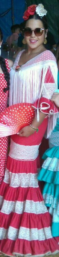 Me primer traje de flamenca creado con mis manitas