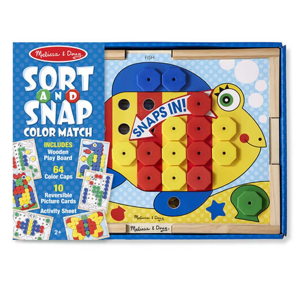 Details about Melissa And Doug Sort And Snap Color Match ...