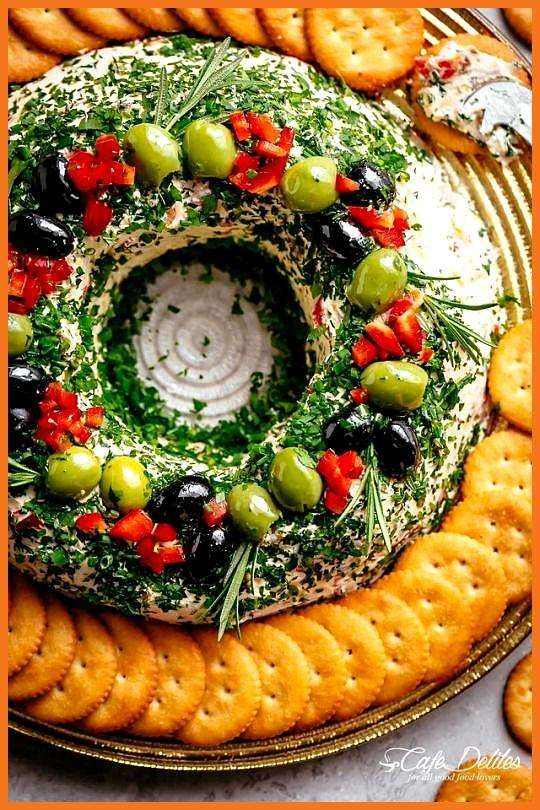 Bacon Cheese Ball Wreath Best Picture For holiday appetierz quick For Your Taste You are looking fo