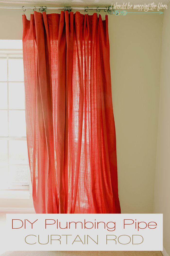 DIY Plumbing Pipe Curtain Rod