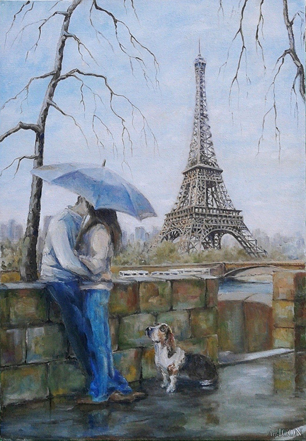 Couple Lovers DIY Paint By Number Kit Acrylic Oil Painting Canvas Art Home Decor