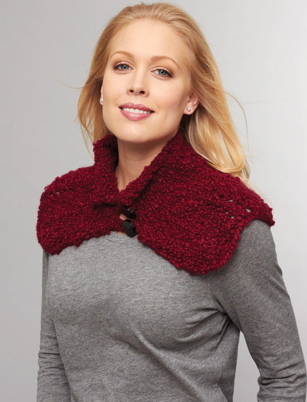Yarnspirations.com - Bernat Buttoned Cowl to crochet - Patterns ...