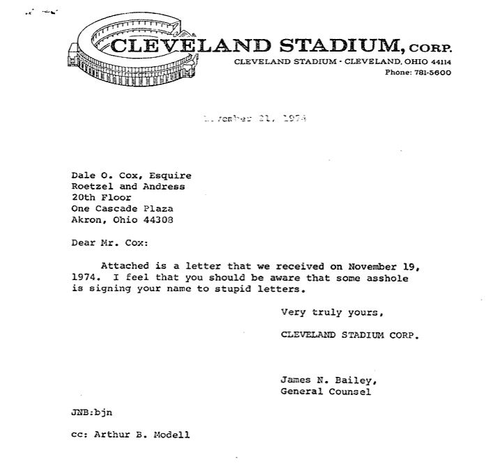 The Greatest Letter Ever Printed On Nfl Team Letterhead  Logo Ideas