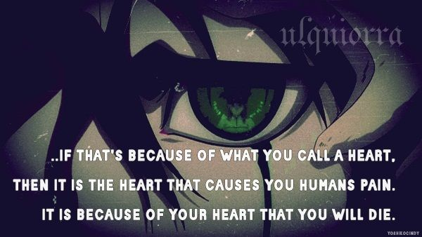 bleach quote ulquiorra it is because of your heart