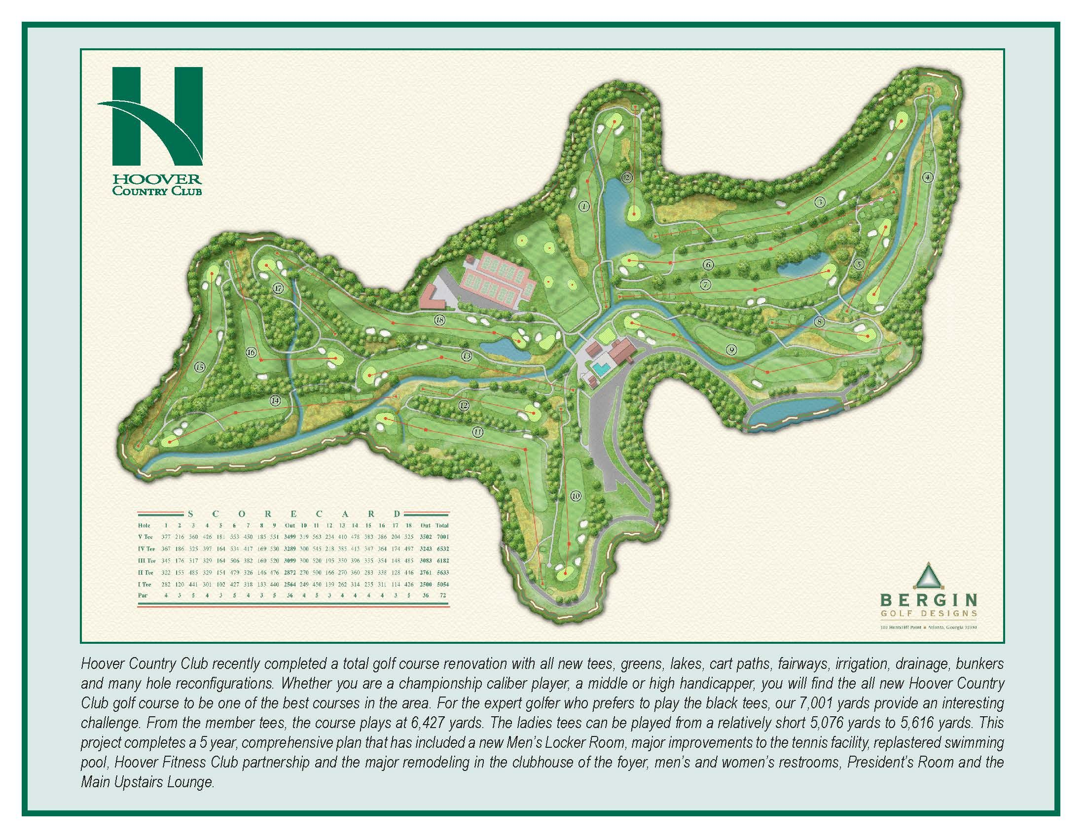 18+ Chambers bay golf course map information