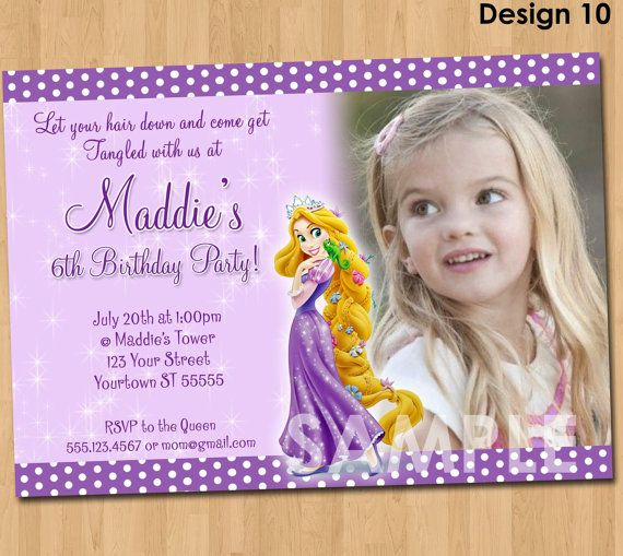 Rapunzel Tangled Invitation Printable by KidsPartyPrintables 999