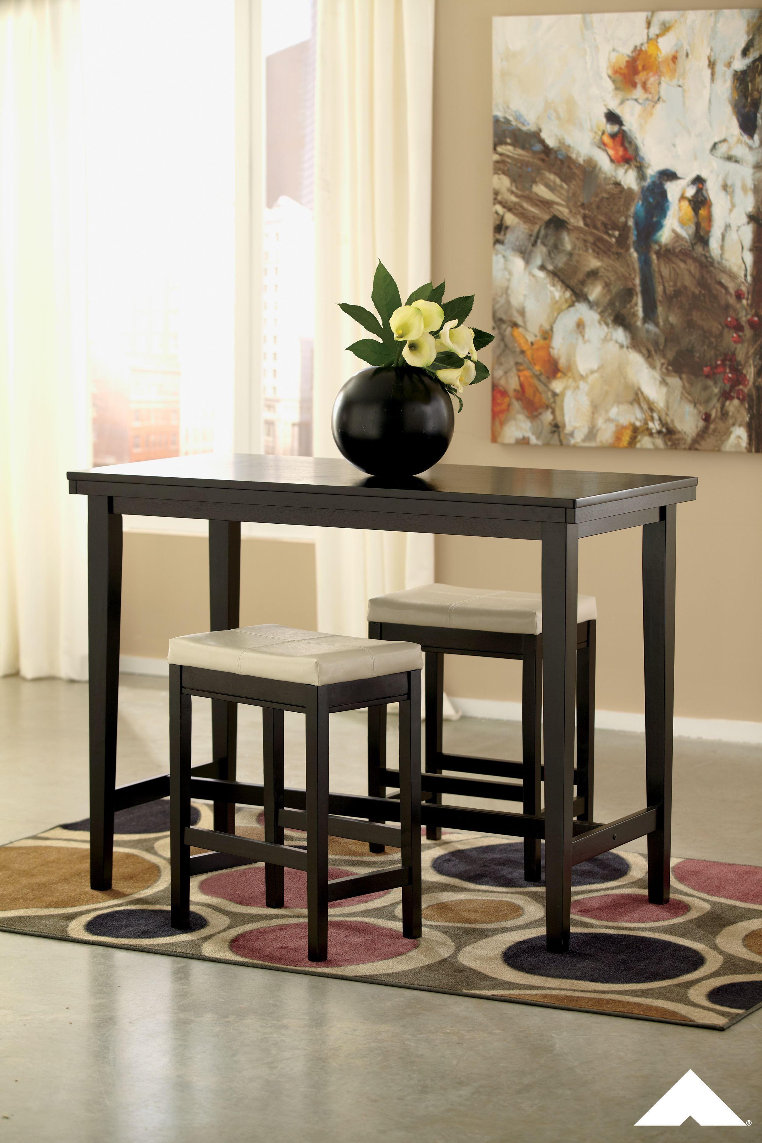 Kimonte Dark Brown Rectangular Dining Room Table By Ashley