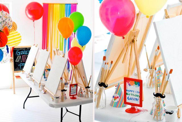 Fiesta tem tica para artistas qu gran idea - Ideas cumpleanos ninos ...