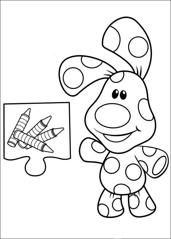 Blue\'s Clues Ausmalbilder 5 | Ausmalbilder für kinder | Pinterest