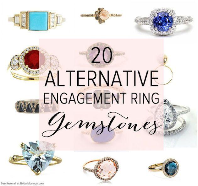Simple  Diamond Alternative Gemstones for Engagement Rings