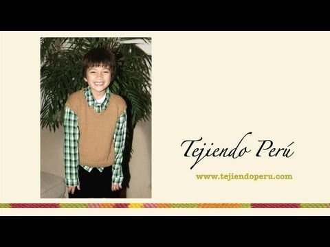 ▶ Chaleco tejido en dos agujas o palillos para niños de 7 a 9 o 10 años - YouTube