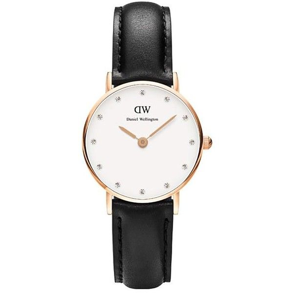 Daniel Wellington Classic Sheffield Watch (235 AUD) ❤ liked on Polyvore featuring jewelry, watches, swarovski crystal watches, daniel wellington and swarovski crystal jewelry