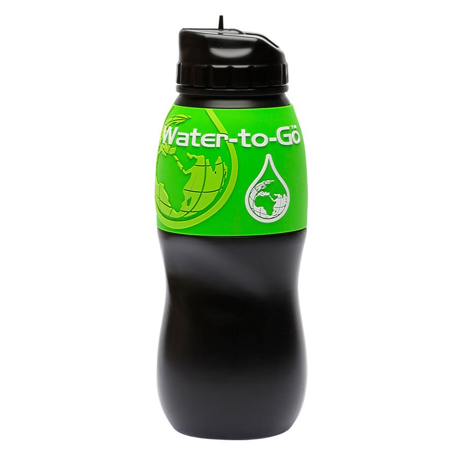 Water-to-Go GO 500ml Water Bottle with Filter Black