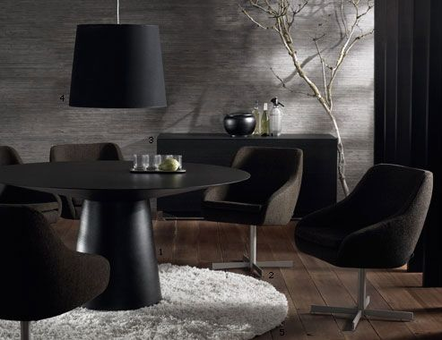 6 Person Dining Table Coming From Grandma BOCONCEPT AMARI MODERN ROUND  DINING TABLE AND SIDEBOARD.