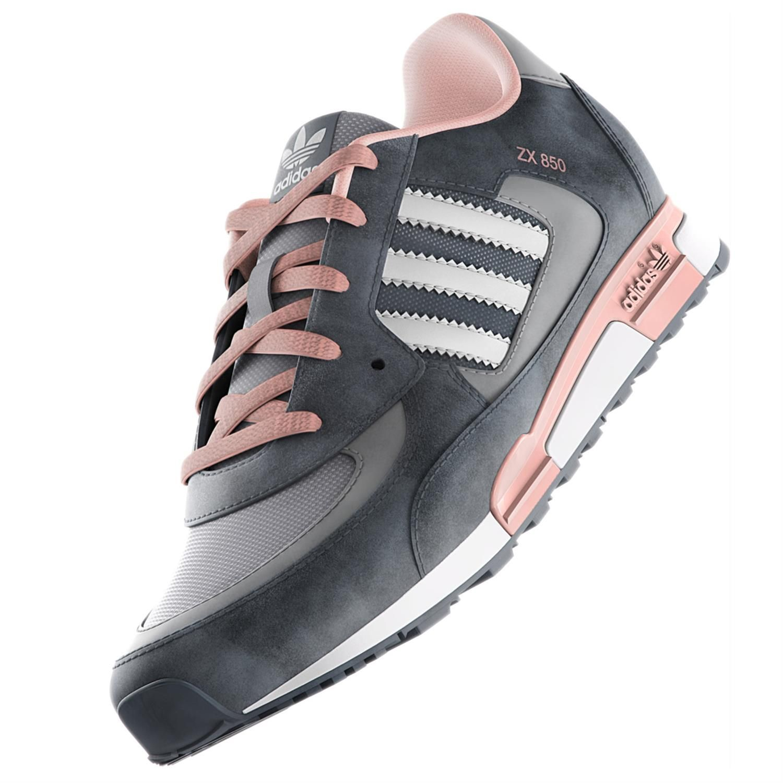adidas zx 850 grijs roze