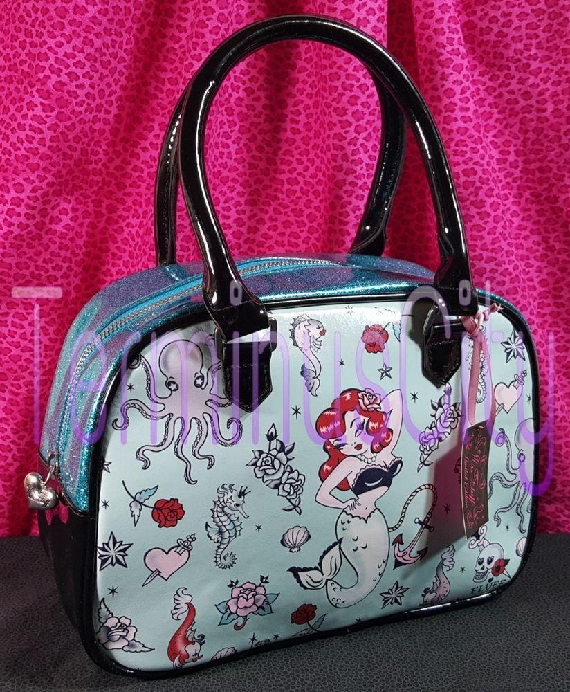 9732143117 Fluff molly mermaid mini bowling handbag numbered anchor skull tattoo fluff  bowler jpg 824x1000 Fluff purses