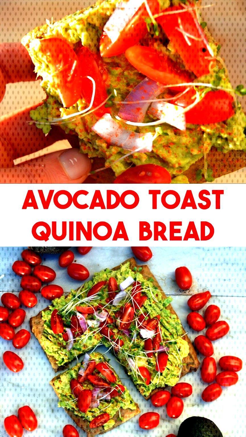 Avocado Toast on Quinoa Bread - Quinoa Bread Avocado Toast – easy to make naturally gluten free