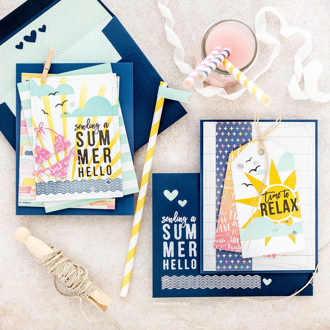 Sending A Summer Hello U2013 Simon Says Stamp July Card Kit