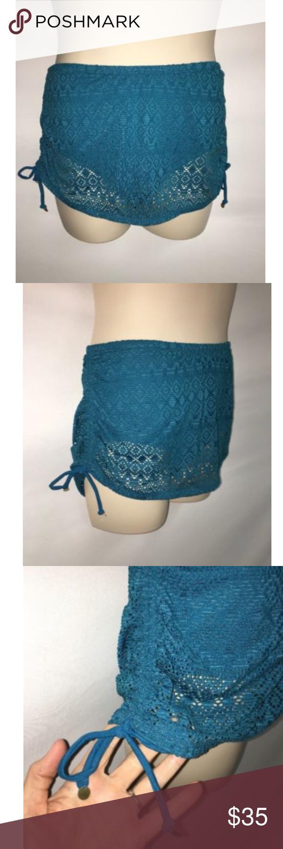 Swim By Cacique Swim Skirt Plus Size 14 Crochet Womens NWOT