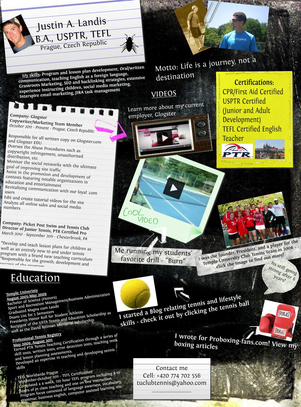 Interactive resume I created on Glogster | Glogster | Pinterest