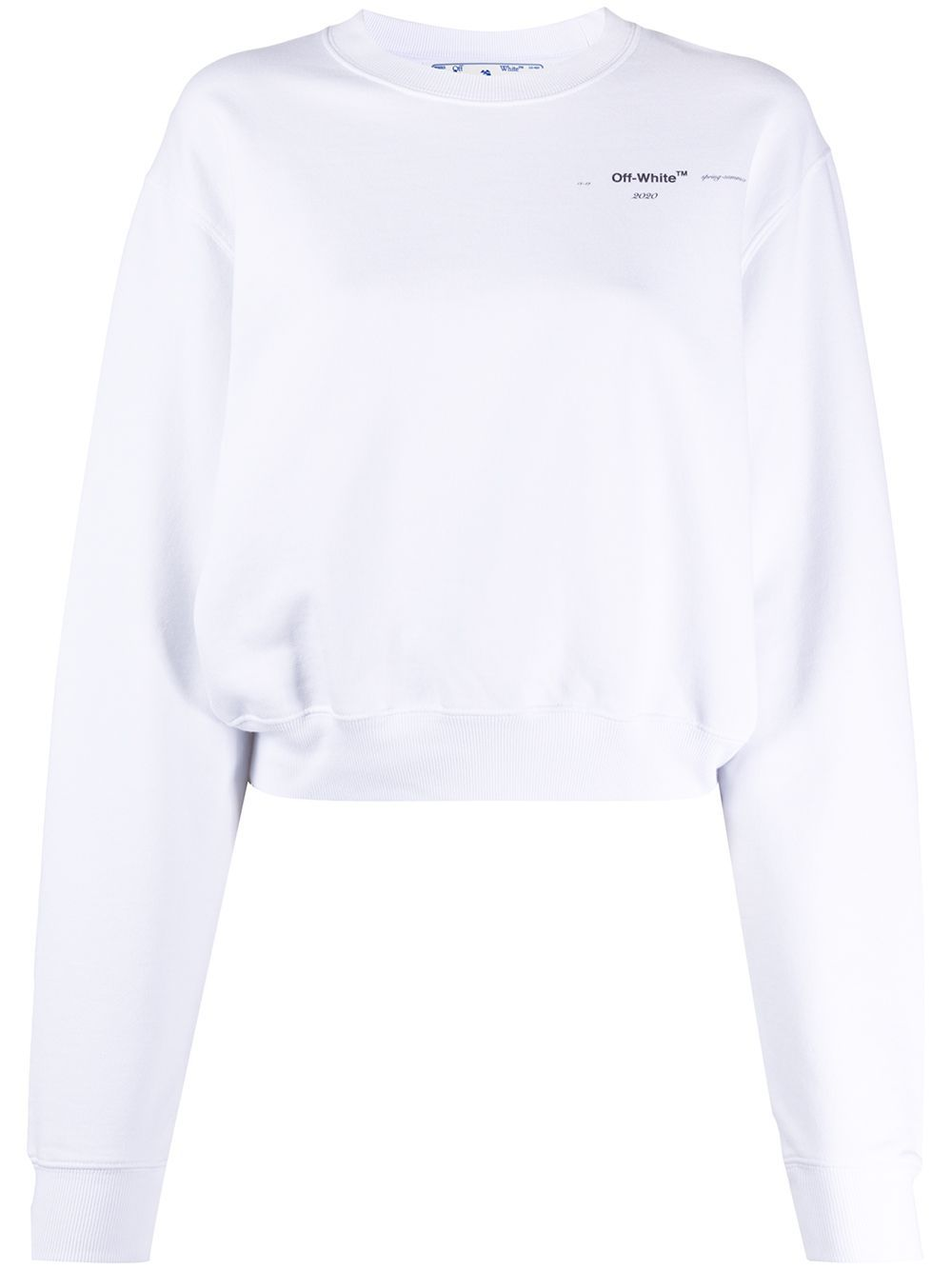 Off White Meteor Palette Cropped Sweatshirt Farfetch In 2021 Off White Clothing Off White Fashion White Outfits For Women [ 1334 x 1000 Pixel ]