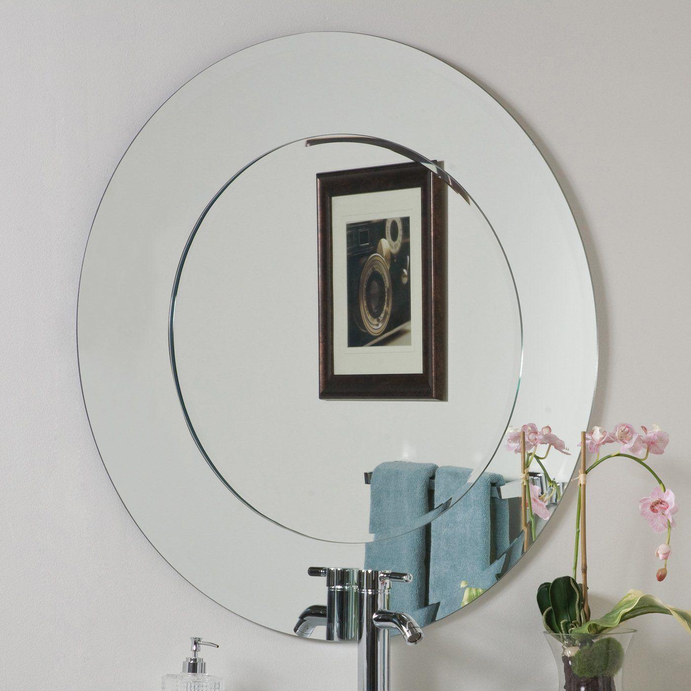 Bathroom Mirrors Stores decor wonderland ssm501 oriana round wall mirror at atg stores