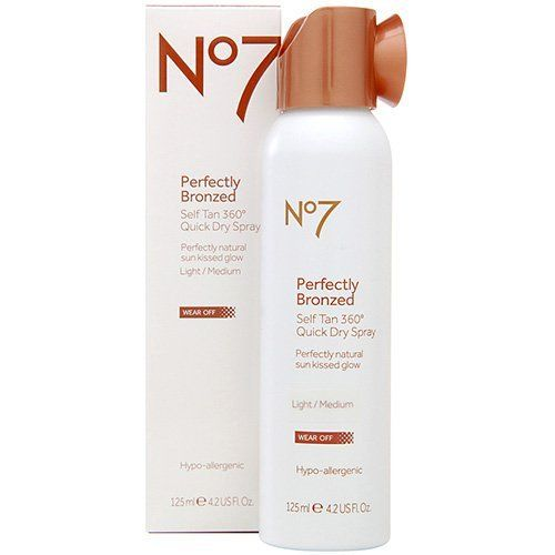 Boots No7 Perfectly Bronzed Self Tan 360 Degrees Quick Dry Spray Light Medium 4 2 Oz By Boots 12 99 Avoid The Sun And Stil No7 Simple Skincare Boots No7