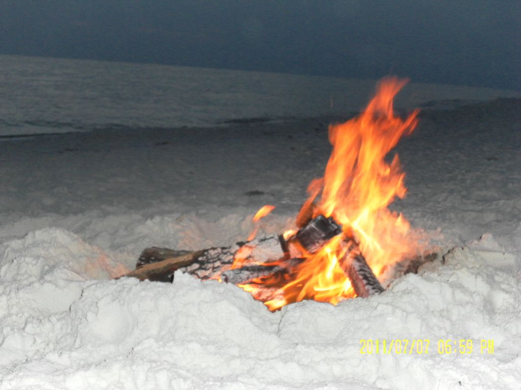 Cape san blas at sunset building a fire listening to the