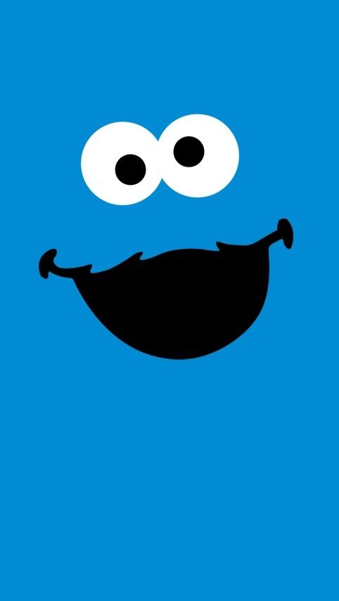 Cute Cookie Monster Wallpaper 482x855 Blue Wallpapers 37