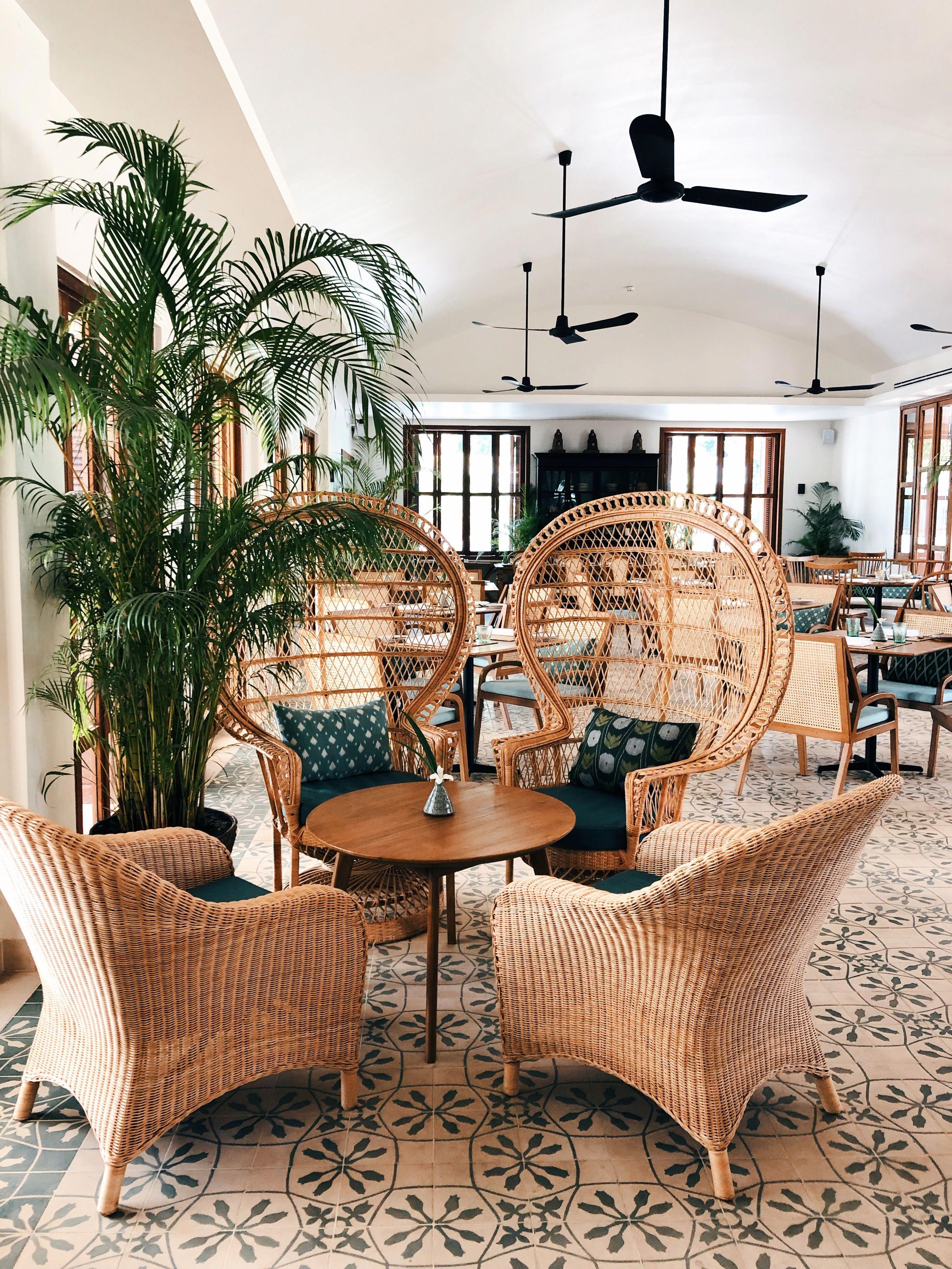 How gorgeous is the decor at FCC Angkor Avani Hotel Siem Reap Cambodia #rattanfurniture #rattanchair #bohemianstyle #bohemiandecor #bohemianhouse #bohostyle #bohochic #bohodecor #cambodia #cambodiatravel #siemreap #luxurytravel #travelblogger #luxuryhotel #avanihotels #WholesaleHomeDecor
