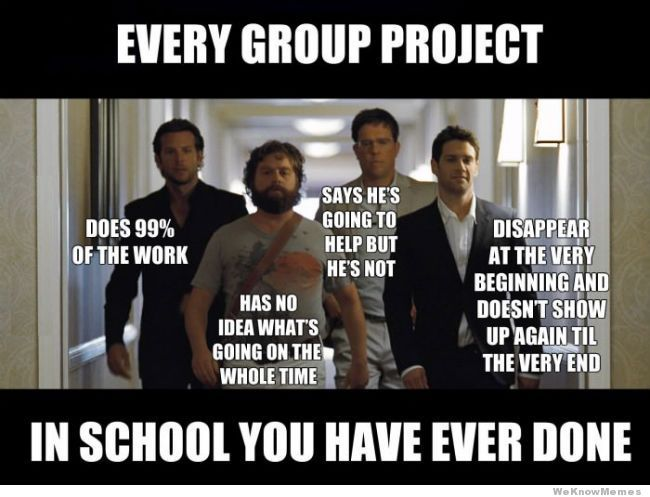 Every Group Project The Hangover Funny Quotes Teacher Memes Funny