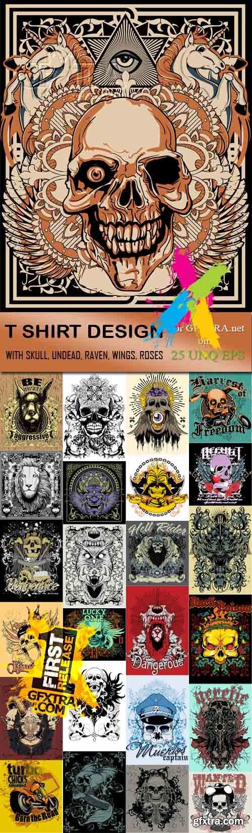 T shirt design 7 25xeps - T Shirt Design 10 25 X Eps T Shirt Design 25xeps
