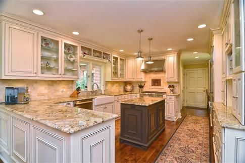 Brand New Gourmet Kitchen With Granite Hardwood Floors Top Of - Kitchen remodeling williamsburg va