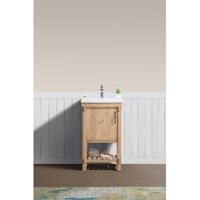 Union Rustic Whitten 20 Single Bathroom Vanity Set Single Bathroom Vanity Vanity Sink Vanity Set