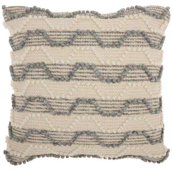 Ellijay Bohemian Textured Throw Pillow Throw Pillows Stripe Throw Pillow Textured Throw Pillows