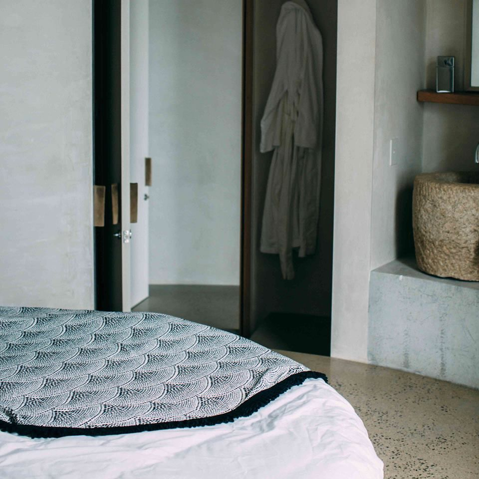 Jumping into bed...shop the Amaroo Roundie for your seaside abode at thebeachpeople.com.au/shop/amaroo/ #thebeachpeople