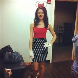 Easy Minnie - use your polka dot dress red t-shirt buy ears or bow and white gloves use sharpie for the markings.  sc 1 th 225 & DIY Halloween Costume Ideas Under | DIY Halloween Costumes ...