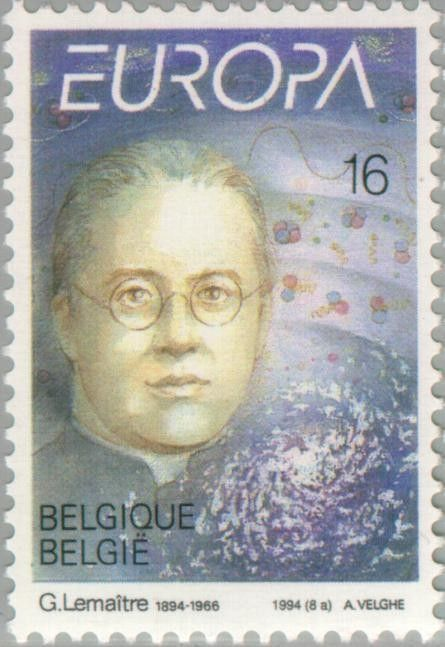 Sello: C.E.P.T.- Discoveries and inventions - Georges Lemaître (Bélgica) (C.E.P.T.- Discoveries and inventions) Mi:BE 2607,Sn:BE 1550,Yt:BE 2551,Bel:BE 2555