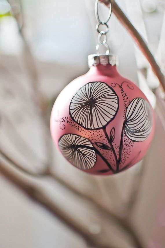 hand painted baubles